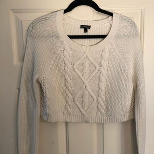 Express White Crop Sweater - Size Small